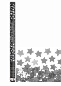 canon à confettis étoiles, canon confettis argent, canons à confettis, Canon à Confettis, Etoiles Argent, 80 cm