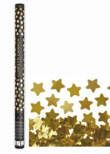 canon à confettis étoiles, canon confettis dorées, canons à confettis, Canon à Confettis, Etoiles Dorées, 80 cm