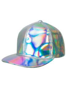 casquette disco argent, casquette disco, accessoire disco argent, Casquette Disco Argent Hologramme