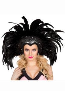 coiffe brésilienne, coiffe carnaval de rio, accessoire carnaval de rio, Coiffe Brésilienne, Rio, Plumes Noires