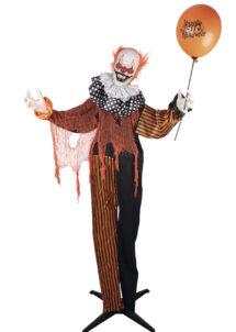 décoration clown, clown maléfique, décoration halloween grand modèle, Clown Maléfique Animé, sur Pied, 166 cm