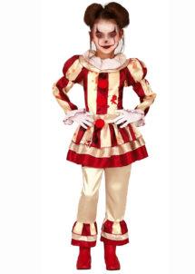 déguisement clown effrayante, déguisement fille halloween, déguisement clown halloween fille, Déguisement de Clown Effrayant It, Fille
