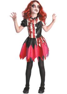déguisement clown halloween fille, déguisement halloween fille, Déguisement de Clown Arlequin Diabolique, Fille
