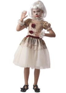 déguisement clown maléfique, déguisement clown ca pour enfant, déguisement halloween clown, Déguisement de Clown Creepy, Fille