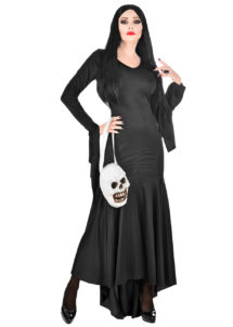 déguisement morticia, déguisement mortisia, déguisement halloween femme morticia, Déguisement Morticia Addams, avec Sac