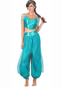 déguisement de jasmine femme, déguisement oriental femme, déguisement danseuse orientale, Déguisement Danseuse Princesse Orientale Turquoise