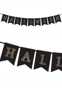 guirlande halloween, décorations halloween, Guirlande Halloween, Mini Fanions Noirs