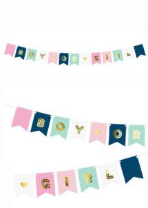 guirlande baby shower, guirlande révélation baby shower, guirlande baby shower fille ou garçon, Guirlande Baby Shower, Révélation Fille ou Garçon