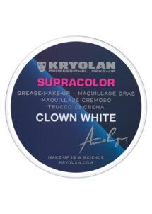 maquillage blanc de clown, fard gras blanc, Supracolor blanc, fard gras kryolan, Peinture Blanche Fard Gras Supracolor, Blanc de Clown