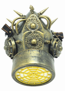 masque à gaz steampunk, masque steampunk, accessoire steampunk, steampunk halloween, masque steampunk, Masque à Gaz Steampunk, Bronze Vieilli