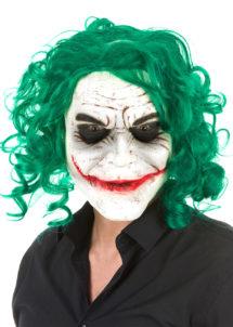 MASQUE-JOKER-LATEX-236007, Masque Joker, avec Cheveux