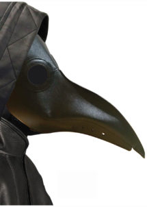 masque plague, masque docteur peste, masque Halloween, masque long nez, Masque Plague Noir, Docteur de la Peste