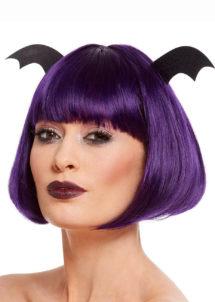 perruque violette halloween, perruque chauve souris, perruque halloween femme, Perruque Bat Glamour, Violette