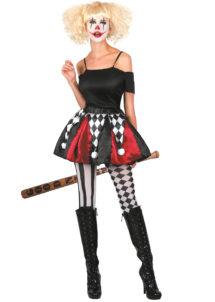 tutu d'arlequin, accessoire halloween, tutu arlequin carnaval de Venise,, Tutu d'Arlequin Rouge et Noire, avec Pompons