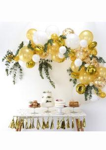 kit arche de ballons, arches pour ballons, arches de ballons, ballons décorations, ginger ray, Arche de Ballons, Or et Blancs, Kit Complet