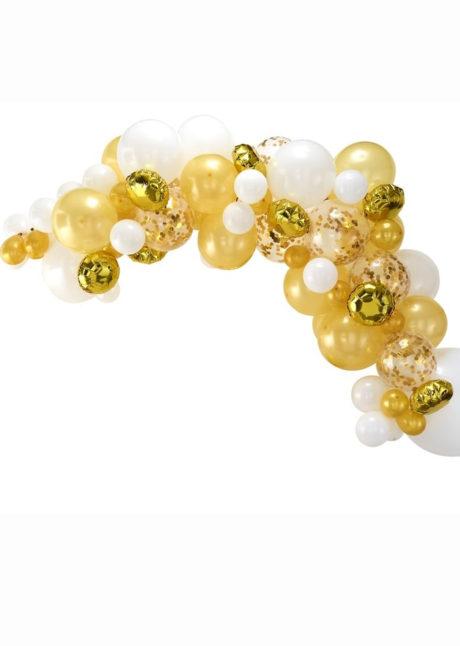kit arche de ballons, arches pour ballons, arches de ballons, ballons décorations, ginger ray, Arche Guirlande de Ballons, Or et Blancs