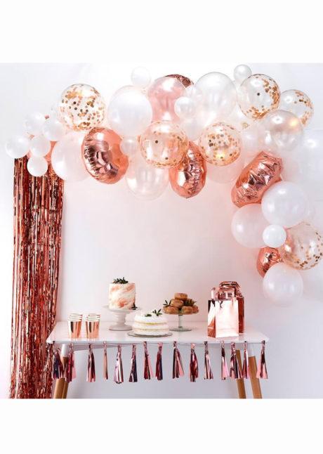 kit arche de ballons, arches pour ballons, arches de ballons, ballons décorations, ginger ray, Arche Guirlande de Ballons, Rose Gold