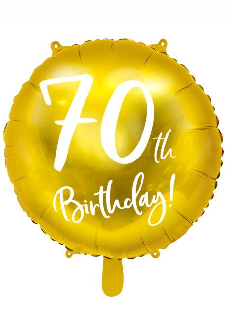 ballon anniversaire, ballon chiffre, ballon 70 ans, Ballon Anniversaire, 70 ans, Doré, en Aluminium