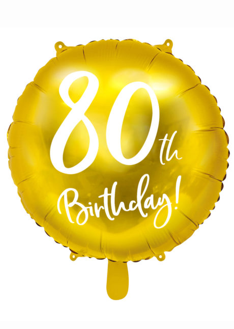 ballon anniversaire, ballon chiffre, ballon 80 ans, Ballon Anniversaire, 80 ans, Doré, en Aluminium