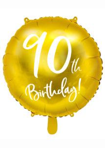 ballon anniversaire, ballon chiffre, ballon 90 ans, Ballon Anniversaire, 90 ans, Doré, en Aluminium