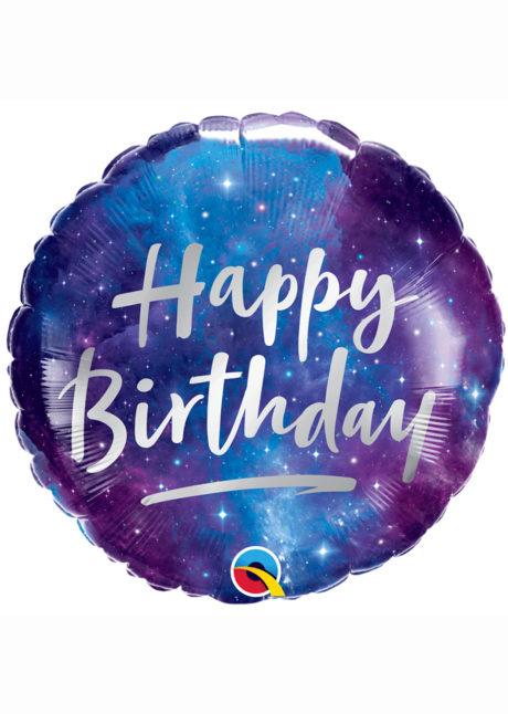 ballon hélium, ballon anniversaire, ballon aluminium, ballons hélium, Ballon Anniversaire, Bleu et Violet, en Aluminium