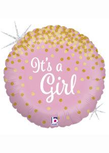 ballon baby shower, ballons baby shower, ballon naissance fille, ballon rose, Ballon Baby Shower, It's a Girl, en Aluminium