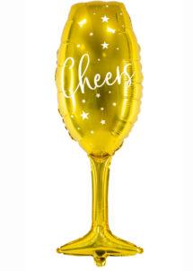 ballon champagne, ballon réveillon, ballon bonne année, ballon saint sylvestre, ballon hélium, ballon anniversaire, Ballon Flûte à Champagne, Cheers