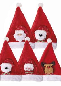 bonnet noel enfant, bonnet père Noel enfant, bonnets de père Noel, Bonnet de Père Noël, Décoré, Enfants