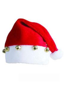 bonnet de pere noel, bonnet pere noel grelots, bonnet de Noel avec grelots, Bonnet de Père Noël, avec Grelots