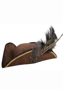 chapeau de pirate, tricorne de pirate, Chapeau de Pirate, Tricorne avec Plume et Métal