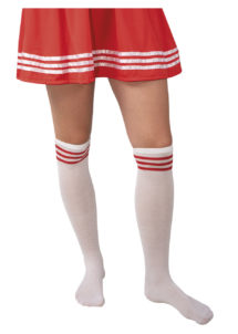 chaussettes cheerleader, chaussettes pompom girl, Chaussettes de Cheerleader