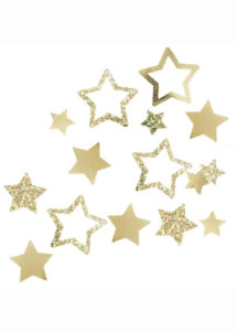 confettis de table dorés, confettis de table or, décorations anniversaire, décorations réveillons, ginger ray, Confettis de Table, Etoiles Star Or