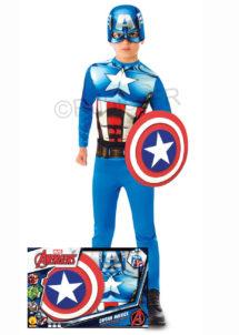 déguisement captain America garçon, bouclier captain America, déguisement avengers garçon, costume captain America, Déguisement de Captain America, avec Bouclier