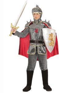 déguisement chevalier enfant, costume chevalier garçon, déguisement de chevalier pour enfant, Déguisement de Chevalier avec Cape Rouge, Garçon