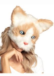 masque de chat, masque animaux, masques de chat, Masque de Chat Fourrure, Demi Visage