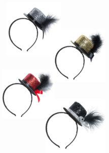 MINI-HAUT-DE-FORME-PAILLETTES-10173, Chapeau Haut de Forme Mini Paillettes, Serre Tête