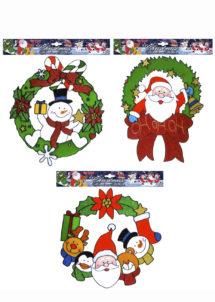 STICKERS-FENETRE-NOEL-1222Q, Stickers de Fenêtre, Décorations Noel