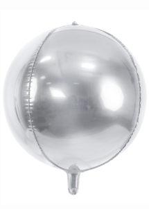ballon hélium, ballon argent, ballon mylar, ballon aluminium, ballon argent, Ballon Boule Argent, Globe Aluminium