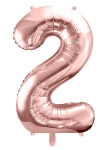 ballon chiffre, ballon chiffre 2, ballon chiffre géant, ballon chiffre rose gold, Ballon Chiffre 2, Rose Gold, 86 cm