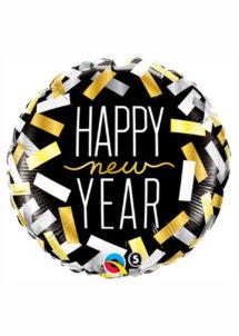 ballon bonne année, ballon happy new year, ballon étoile, ballon aluminium, ballon hélium, ballon réveillon, Ballon Happy New Year, en Aluminium