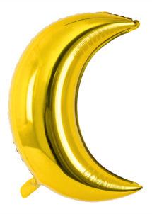 ballon lune dorée, ballon aluminium, ballon mylar, ballon lune, Ballon Lune Dorée, en Aluminium