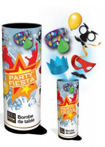 bombe de table, bombe de cotillons, cotillons bombe de table, Bombe de Table Party Fiesta