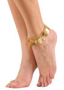 bracelet de cheville oriental, bracelet à pièces, accessoire oriental, Bracelet de Cheville Oriental