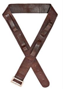 ceinture porte épée, baudrier, ceinture déguisement, Ceinture Porte Epée Marron, 4 Passants