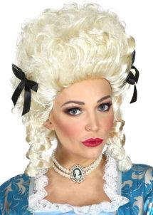 perruque de marquise, perruque femme, perruque historique, perruque de reine, perruque historique, Perruque de Marquise Coloniale, Blonde