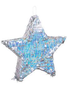 pinata, pinata mexicaine, pinata d'anniversaire, pinata pour anniversaire, pinata étoile, Pinata, Etoile Argent Hologramme