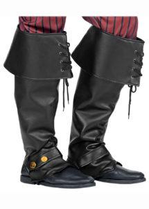 surbottes, accessoires pirates déguisement, accessoire médiéval déguisement, chaussures médiévales, chaussures déguisements, Surbottes Simili Cuir Noir, Pirate et Médiéval