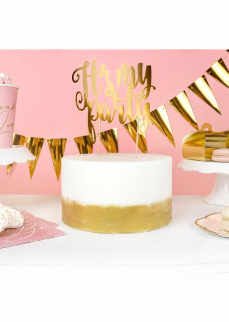 cake topper anniversaire, cake topper party, decorations gateaux, décorations gâteau, Décoration Gâteaux, Cake Topper It's My Party
