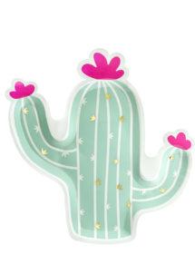 vaisselle jetable cactus, assiettes cactus, vaisselle anniversaire, décorations tropicales, Vaisselle Cactus, Assiettes Vert Menthe
