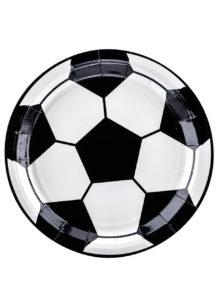 assiettes foot, vaisselle jetable, décorations thème foot, assiettes football, décorations coupe du monde, Vaisselle Ballon de Foot, Assiettes